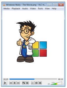 Windows Уолли - Фильм - Проигрыватель Windows Media - VLC
